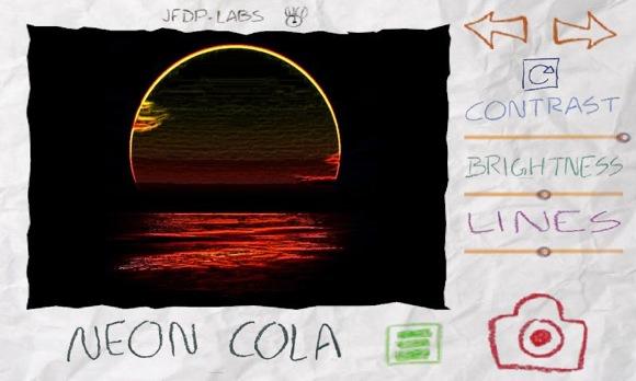 Ukážka efektu Neon Cola