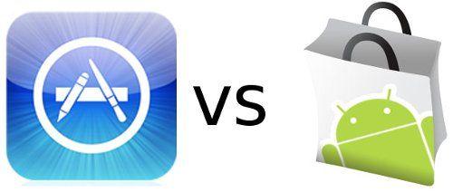 Počet aplikácií: Apple Appstore: 52% Android Market: 48%