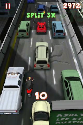 Ukážka predbiehania áut